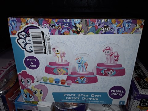 Lot 5069 MY LITTLE PONY 3 PACK PAINT YOUR OWN GLITTER DOMES RRP £11.99