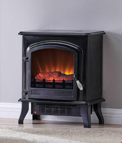 Lot 12  BRAND NEW BOXED ELECTRIC FIREPLACE  QCIH413-GBKP