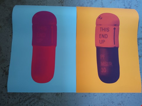 Lot 14002 2 DAMIAN HIRST THE CURE NEW PILLS PRINTS