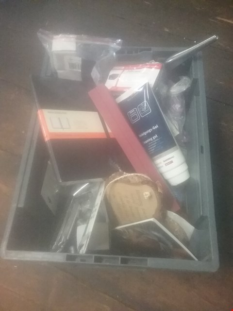 "Lot 5526 BOX OF ASSORTED ITEMS TO INCLUDE EFAST 4.5""C CASHBOX, MOLESKINE NOTEBOOK, OVEN CLEANING GEL"