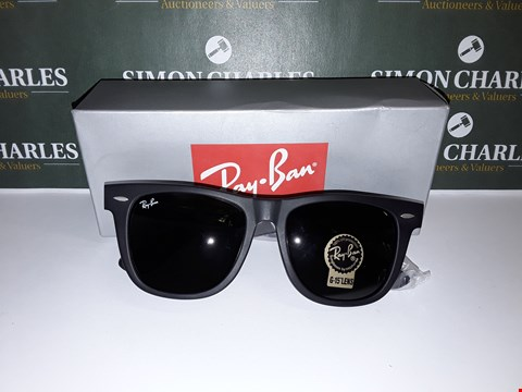 Lot 321 BOXED PAIR OF RAY BAN STYLE BLACK FRAMED GLASSES