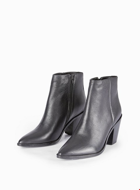 Lot 7016 BRAND NEW BOXED DOROTHY PERKINS SHELVED ANKLE BOOTS BLACK SIZE 6