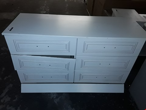 Lot 143 WHITE 6 DRAWER SIDEBOARD