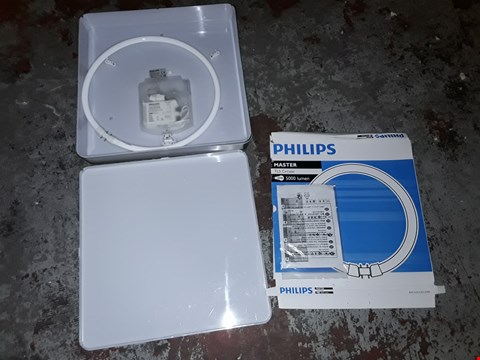 Lot 680 PHILIPS MYBATHROOM PLANO CEILING LIGHT NICKEL AND BRASS PLATED