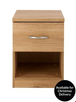 Lot 246 BOXED PERU 1 DRAWER BEDSIDE CABINET  ( 1 BOX )  RRP £47.00