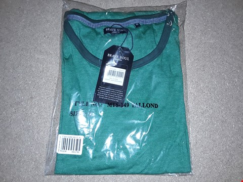 Lot 128 BOX OF APPROXIMATELY 8 BRAVE SOUL JADE GREEN MARL SHIRTS SIZE XL