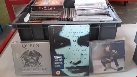 Lot 9010 BOX OF APPROXIMATELY 60 ASSORTED CDS INCLUDING QUEEN, MARILLION, CHRISTINE AND THE QUEENS, GORILLAZ ETC