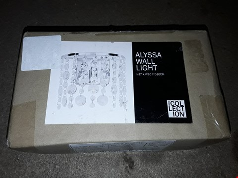 Lot 233 BOXED HOME COLLECTION ALYSSA WALL LIGHT