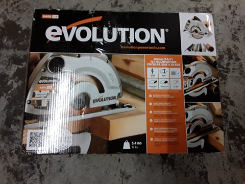 Lot 344 EVOLUTION TCT MULTIPURPOSE CIRCULAR SAW & BLADE