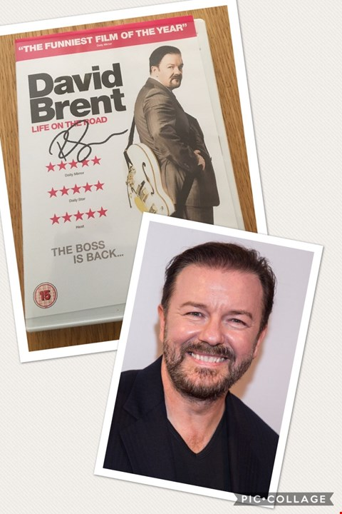 Lot 45 SIGNED COPY OF 'DAVID BRENT - LIFE ON THE ROAD' DONATED BY RICKY GERVAIS