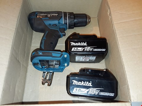 Lot 6351 UNBOXED MAKITA DHP482 DRILL WITH 2 BATTERIES