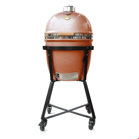 Lot 95B BRAND NEW COPPER GRILL DOME KAMADO SMALL IN WITH STAND AND COVER RRP £615