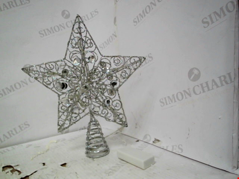 Lot 13093 SILVER STAR CHRISTMAS TREE TOPPER RRP £19.99