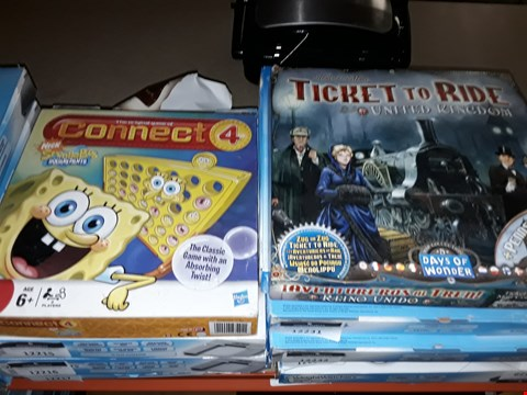 Lot 9127 DPONGE BOB CONNECT 4 AND TICKET TO RIDE UK BOARD GAMES