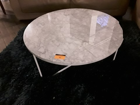 Lot 7031 DESIGNER MARBLE EFFECT CIRCULAR COFFEE TABLE RRP £1680