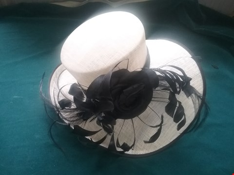 Lot 37 BRAND NEW EMMA B CREAM AND BLACK HAT RRP £126.00