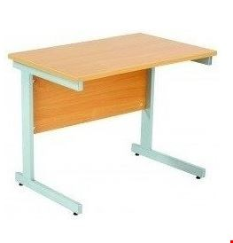 Lot 8052 BRAND NEW BOXED FRACTION+ RECTANGULAR DESK WITH SINGLE CANTILEVER LEGS - (W) 1200MM X (D) 600MM BEECH