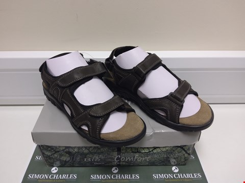 Lot 3014 BOXED PAIR OF BIOCOMFORT BROWN SANDALS SIZE 42