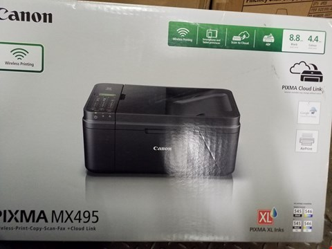 Lot 3539 PIXMA MX495 ALL IN ONE PRINTER RRP £105.00
