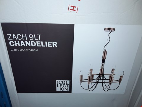 Lot 358 BOXED HOME COLLECTION ZACH 9LT CHANDELIER