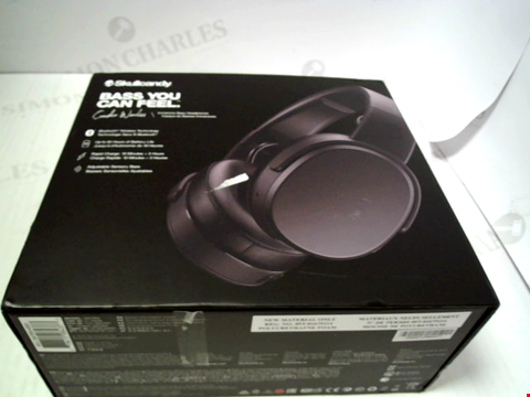 Lot 5534 SKULLCANDY CRUSHER WIRELESS OVER-EAR HEADPHONES - BLACK RRP £185.00