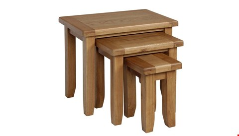 Lot 10010 BOXED DESIGNER CAMBRIDGE NEST OF TABLES RRP £498