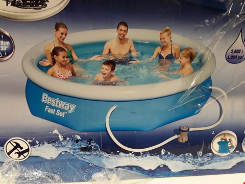 Lot 9401 BESTWAY 10FT POOL FAST SET BLUE RRP £109.00