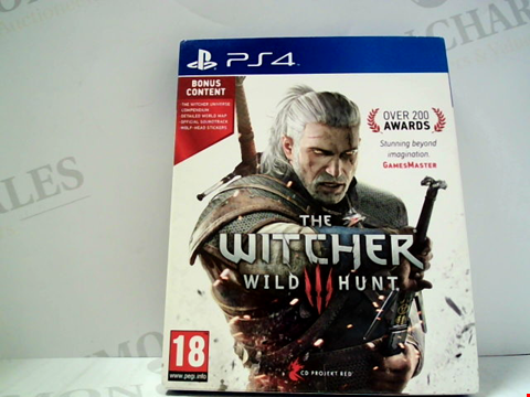 Lot 5617 THE WITCHER 3; WILD HUNT PLAYSTATION 4 GAME