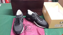 Lot 5003 BOXED PAIR OF LOUIS VUITTON RUNAWAY SNEAKERS SIZE 7