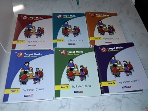 Lot 3305 LOT OF 6 BRAND NEW TARGET MATHS FLUENCY GAMES EDUCATIONAL BOOKS - YEARS 1-6 RRP £89.94