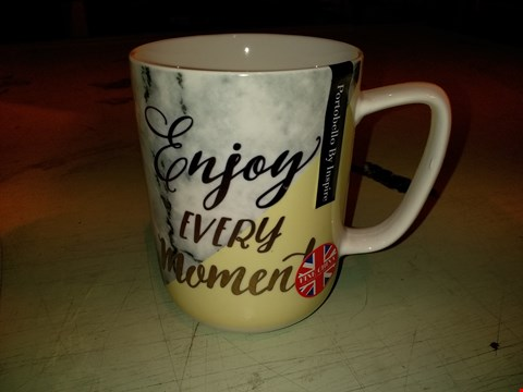 Lot 6056 LOT OF APPROXIMATELY 17 ENJOY EVERY MOMENT MARBLE DEVON MUG