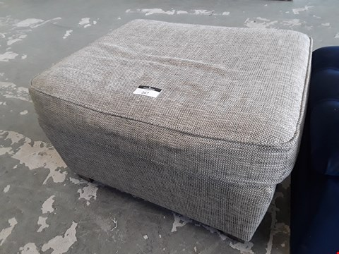 Lot 4 BRITISH DESIGNER NATURAL FABRIC RECTANGULAR STORAGE FOOTSTOOL