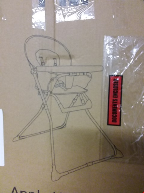 Lot 224 MOTHER CARE APPLE HIGHCHAIR AND PERSONALISED BRIE MINE CHEESE SLATE RRP £71
