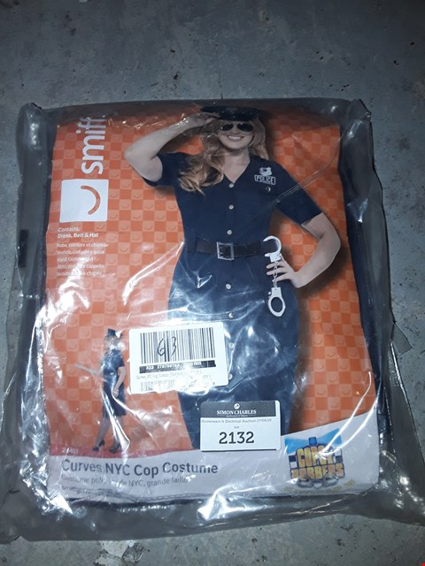 Lot 2132 BRAND NEW CURVES NYC COP COSTUME BLUE WITH DRESS BELT RRP £63.00