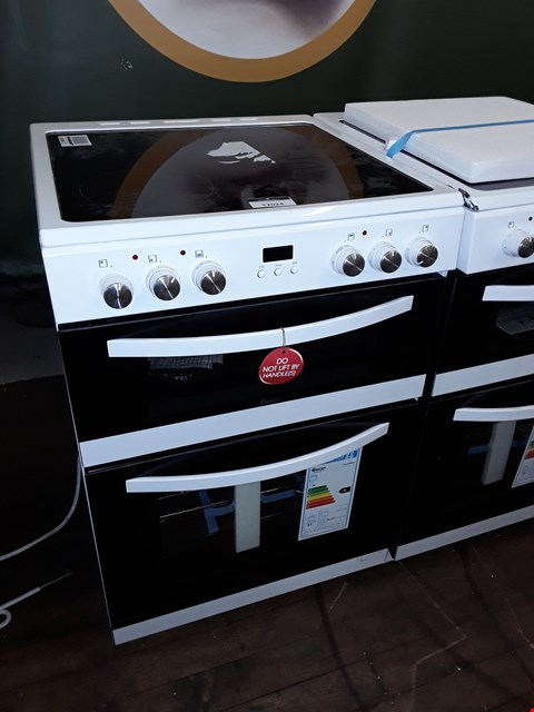 Lot 12024 SWAN SWAN SX15880W 60CM DOUBLE ELECTRIC COOKER WHITE