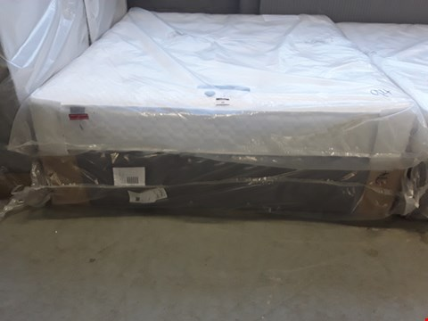 Lot 94 QUALITY BAGGED 6' SUPER KINGSIZE DIVAN BED COMPRISING, SILENTNIGHT 1000 MIRAPOCKET MATTRESS & GREY FABRIC BASE