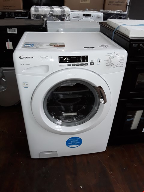 Lot 11064 CANDY GRAND VITA 9KG 1600 SPIN WASHING MACHINE IN WHITE - GVS 169D3/1-80