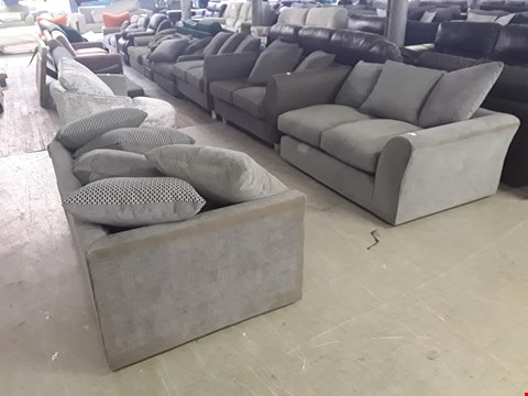 Lot 64 TWO DESIGNER 2-SEATER GREY FABRIC SOFA SECTIONS