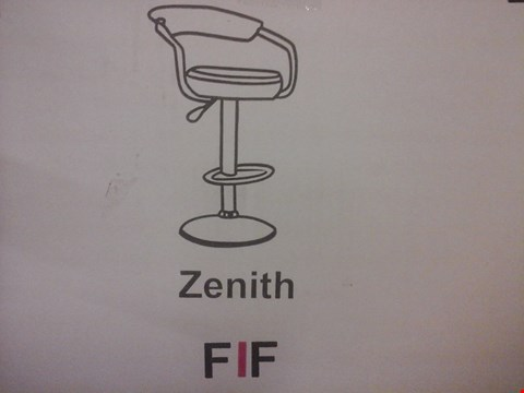 Lot 6024 FURNITURE IN FASHION 2 ZENITH GAS BAR STOOLS IN BLACK (1 BOX)