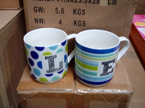 Lot 1051 2 BOXES WITH 4 SETS OF 4 OF LOVE MUGS