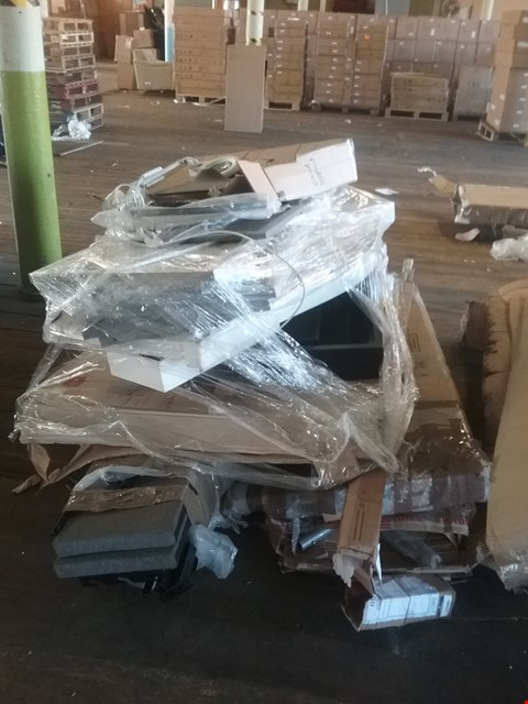 Lot 4155 PALLET OF ASSORTED FLAT PACK FURNITURE PARTS