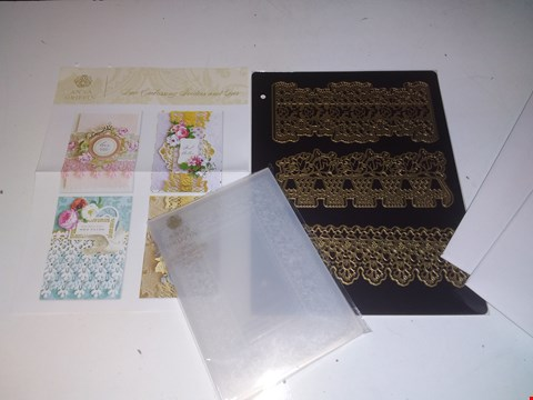 Lot 1382 2 x Anna Griffin Lace Border Embossing Folders & Dies