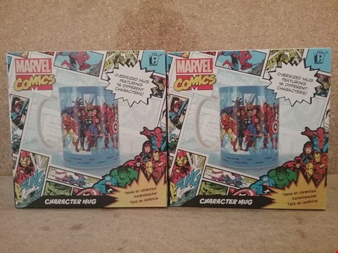 Lot 340 2 BRAND NEW MARVEL MUGS