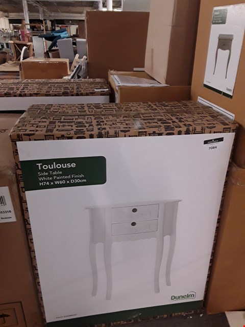 Lot 7084 BOXED TOULOUSE SIDE TABLE