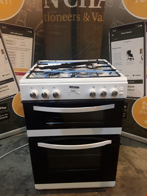 Lot 9069 SWAN DOUBLE CAVITY GAS COOKER WHITE
