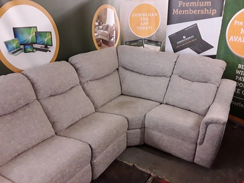 Lot 8027 QUALITY DESIGNER BRITISH MADE WOODEN FRAME GREY FABRIC ELECTRIC RECLINING 5 SEATER CORNER SOFA