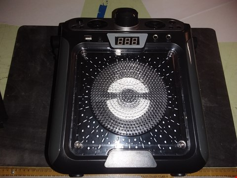Lot 1718 SINGING MACHINE SML682BTW BLUETOOTH AND CD KARAOKE MACHINE WITH LED LIGHTS AND MICROPHONE, BLACK
