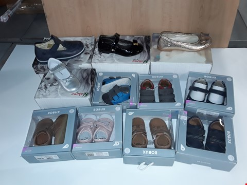 Lot 12812 BOX OF APPROXIMATELY 33 PAIRS OF ASSORTED CHILDRENS SHOES TO INCLUDE NATURINO, BOBUX