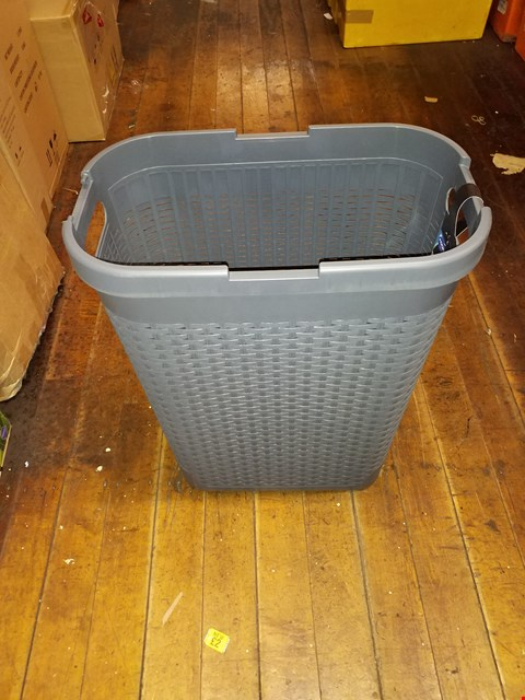 Lot 770 FAUX RATTAN 40LTR SLIM LAUNDRY HAMPER RRP £22.99
