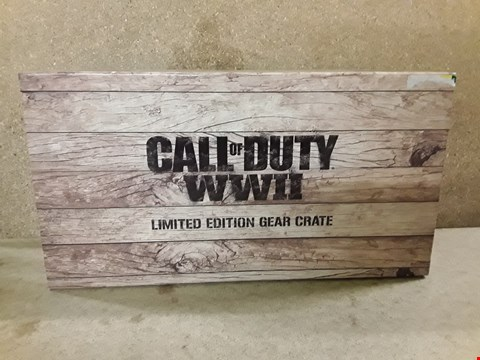 Lot 390 BRAND NEW BOXED CALL OF DUTY WWII LIMITED EDITION GEAR CRATE